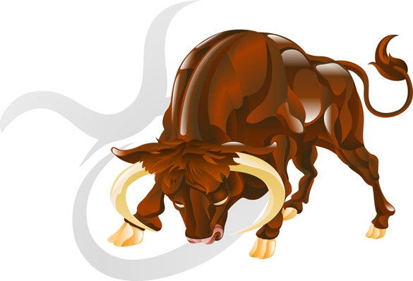 Illustration representing Taurus the bull star or birth sign