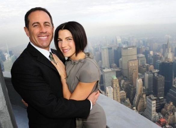 Jerry Seinfeld and Jessica Sklaar