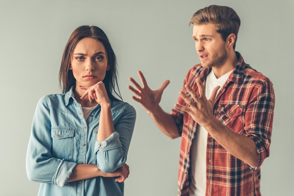 Young couple having a quarrel - Taurus Man and Pisces Woman Breakup